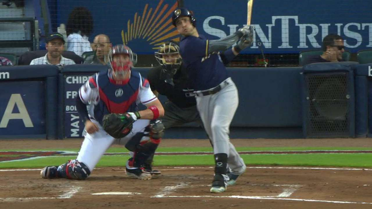 Braun's solo home run to center