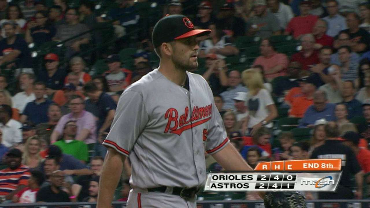 O'Day first injured hamstring May 24 in Houston