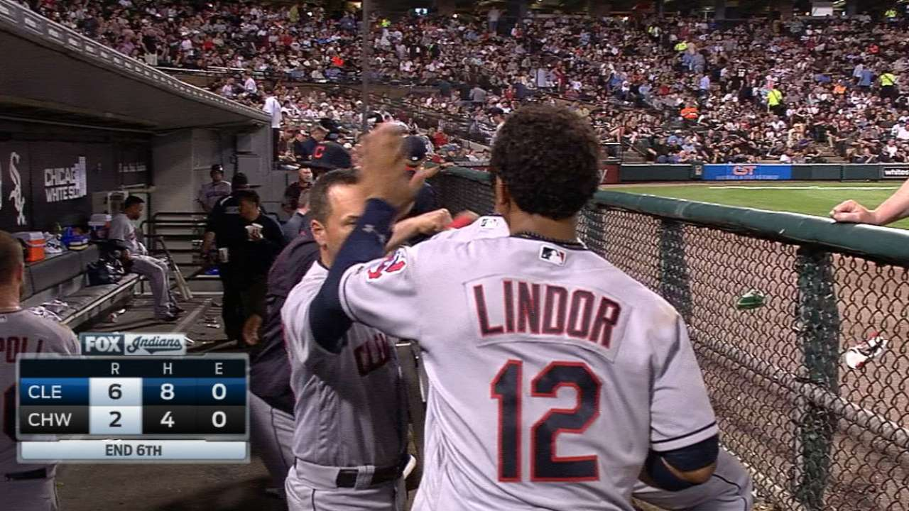 Lindor's big night vs. White Sox