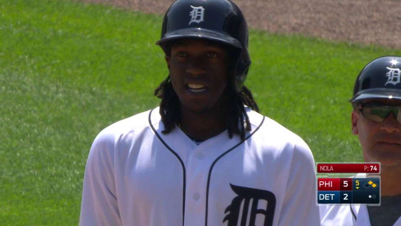 Maybin changes approach to fit Tigers' game plan