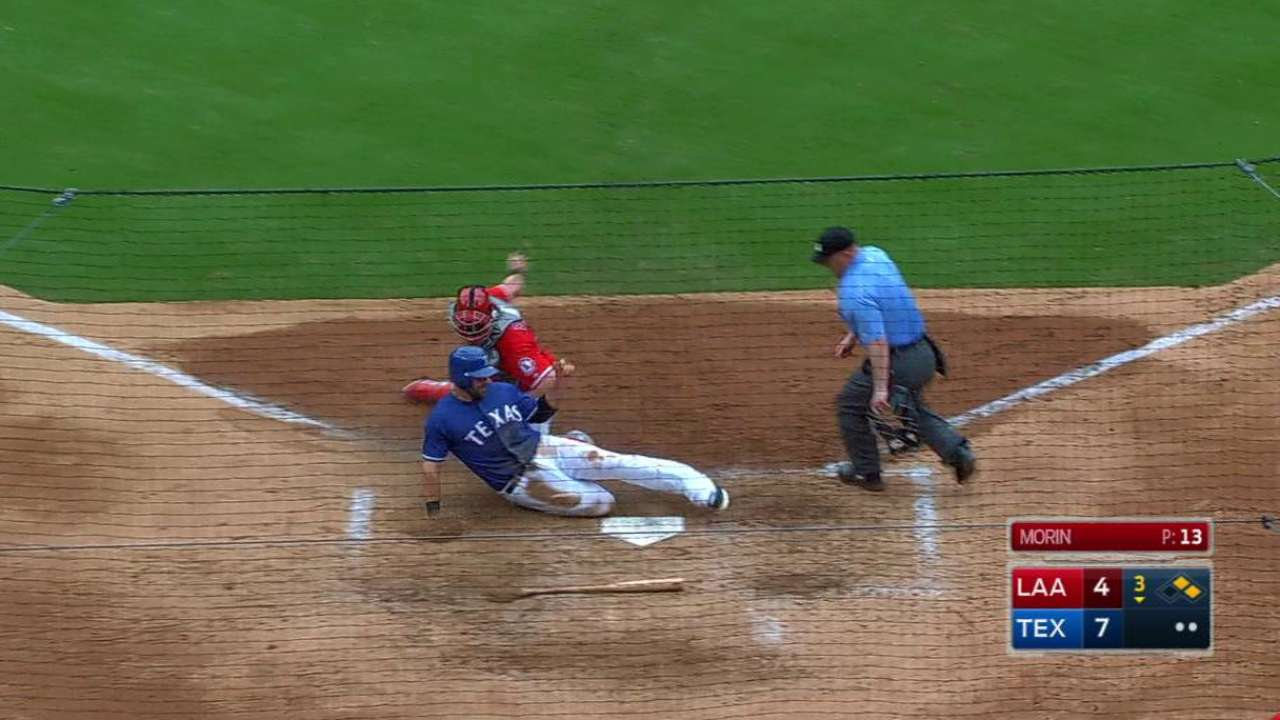 Ortega gets the out at home