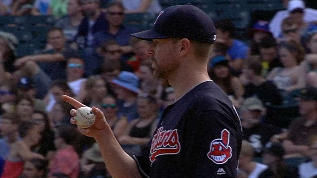 Kluber rolls as Indians hold off White Sox