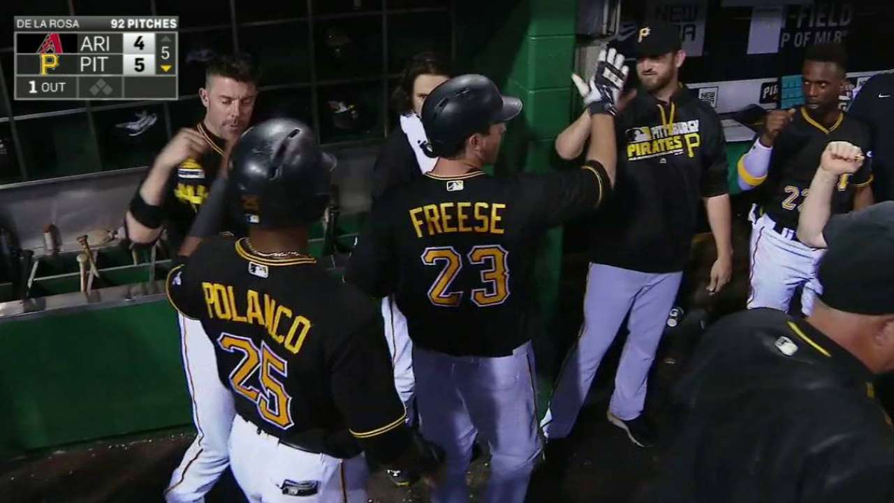 Freese, Bucs rally past D-backs with big 5th