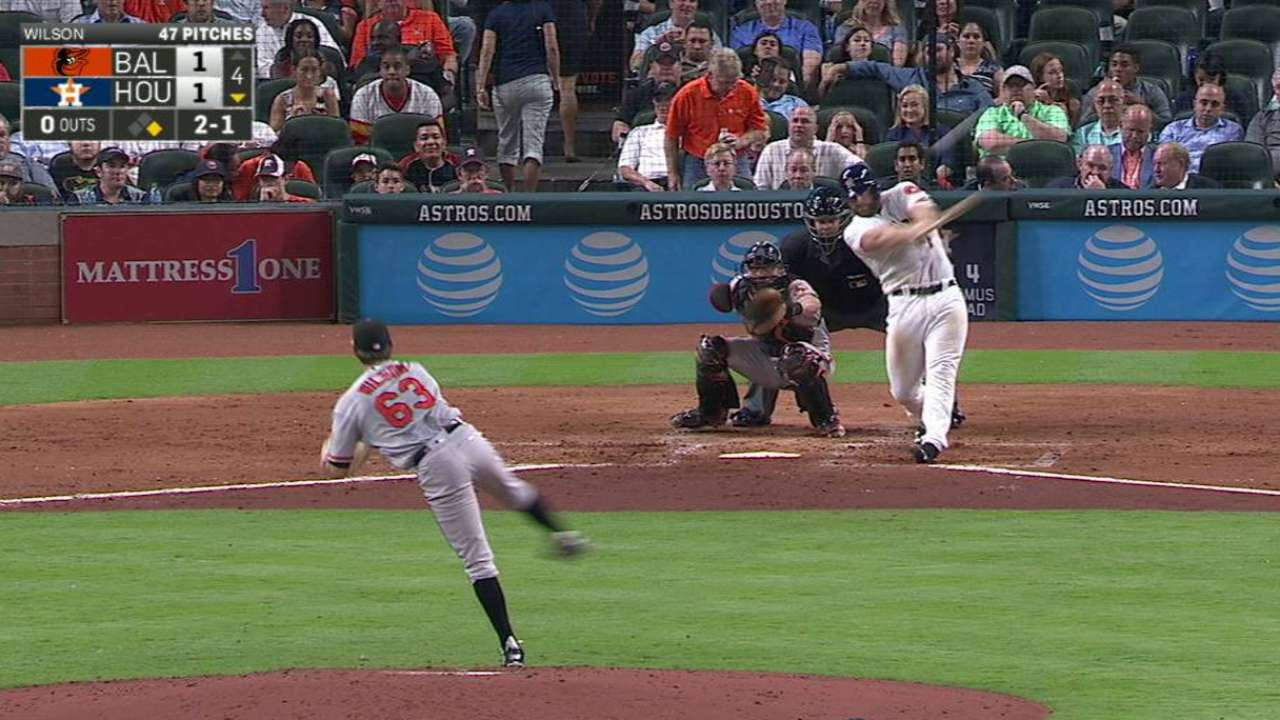 Gattis impresses at plate, and behind it