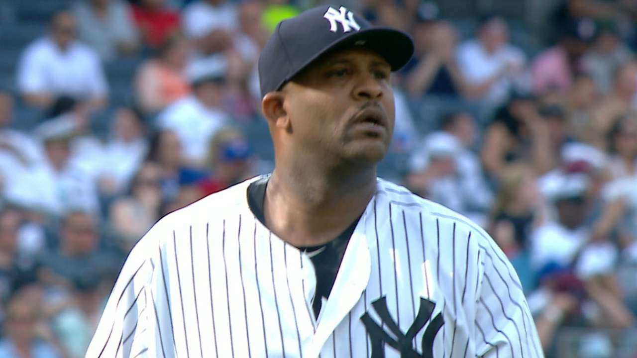Mixing pitches, Sabathia in sustained groove