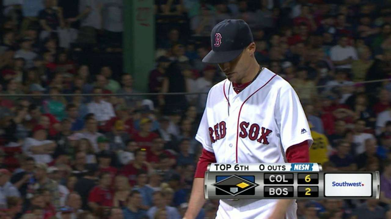 Buchholz exits the game