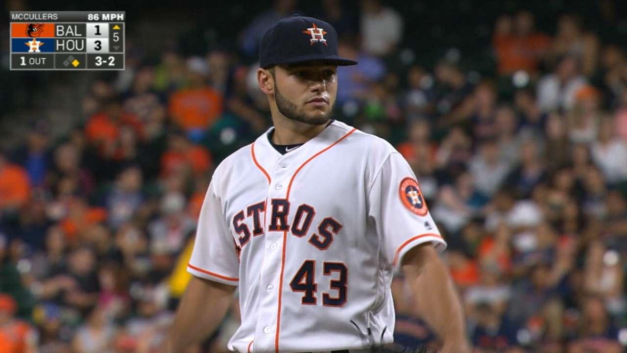 Astros set 3-game series K mark vs. O's