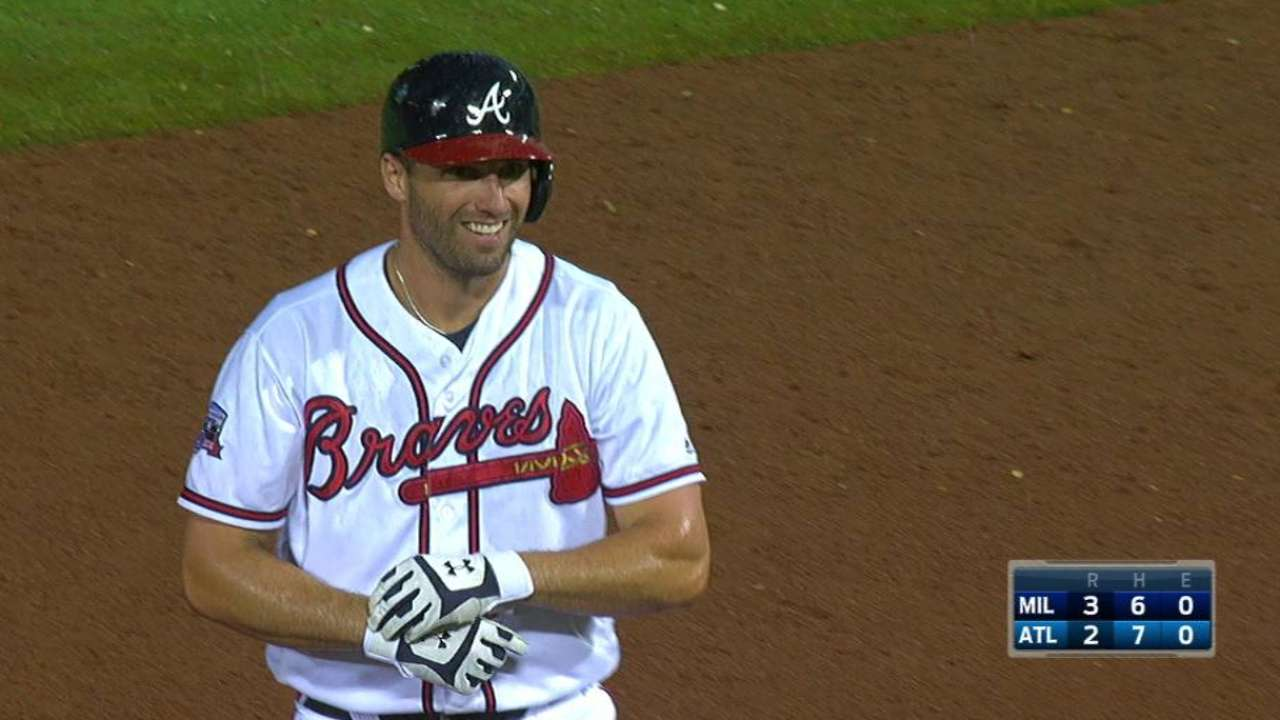 Francoeur's double to center