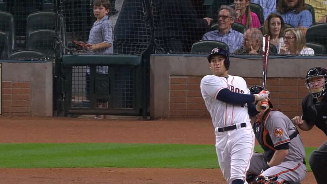 Springer thriving in Astros' leadoff role