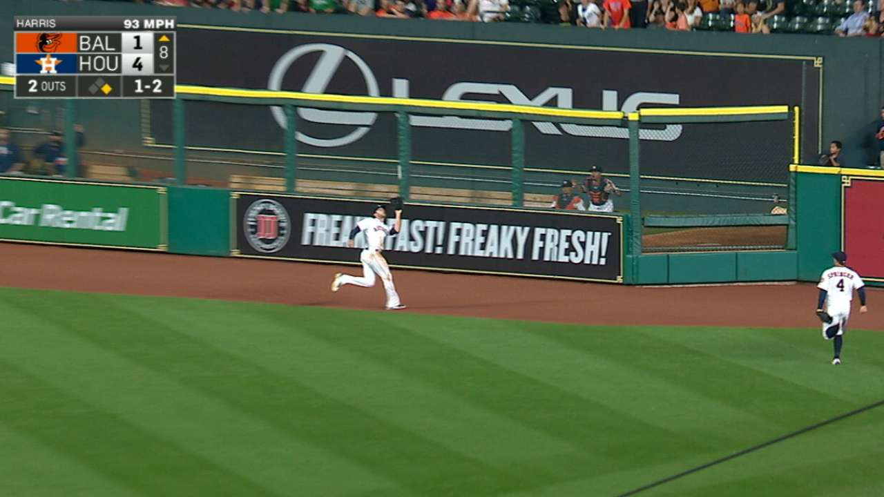 Marisnick shows why Hinch loves CF's 'D'