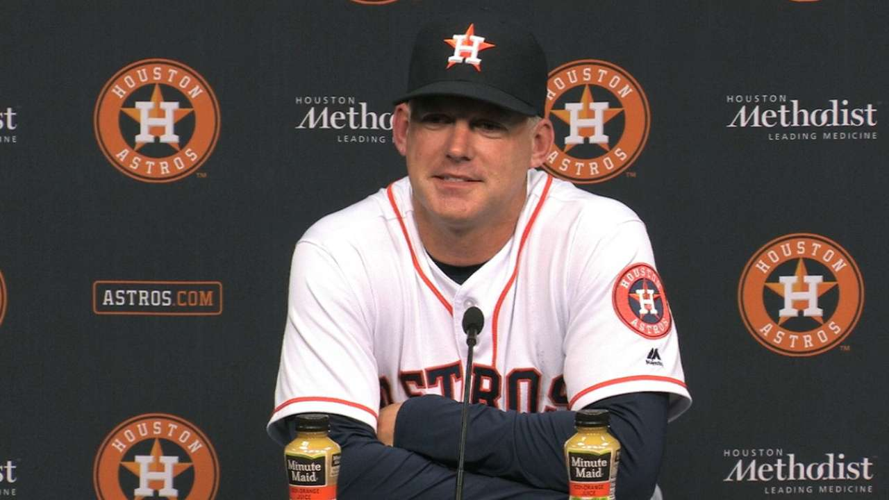 Hinch on sweep of the Orioles