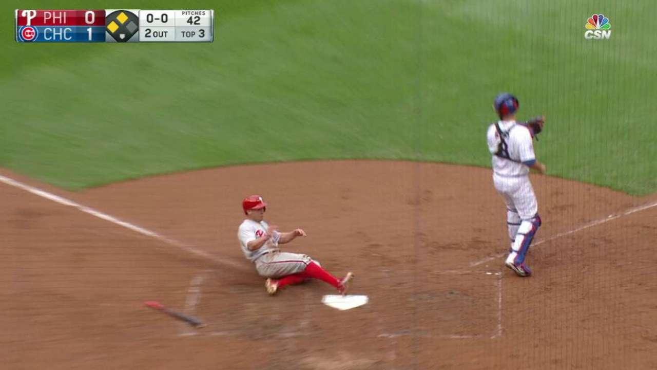 Morgan stung by long ball as Phils fall to Cubs