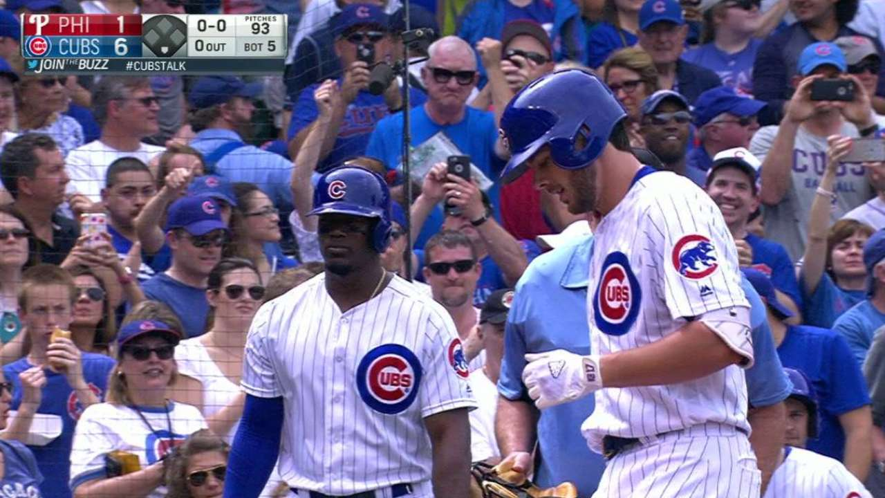 Homer-happy Cubs down Phils behind Lester