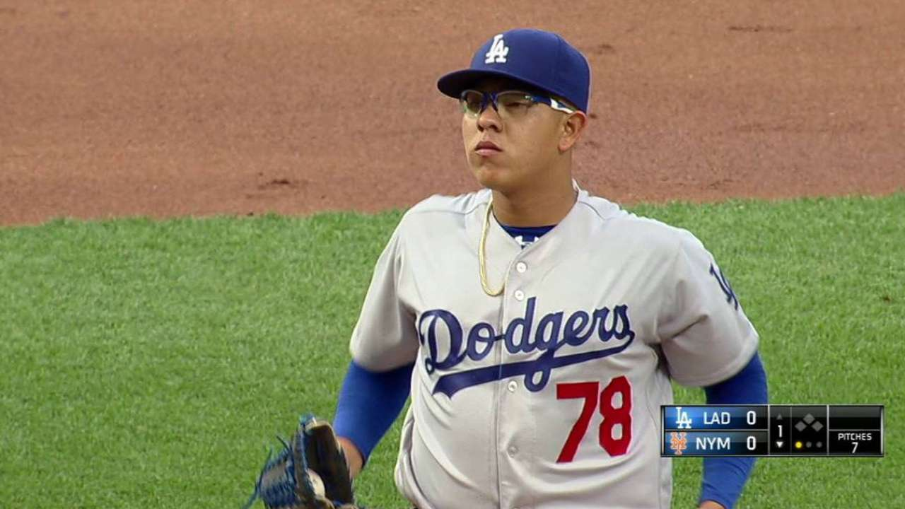 Urias' first career strikeout