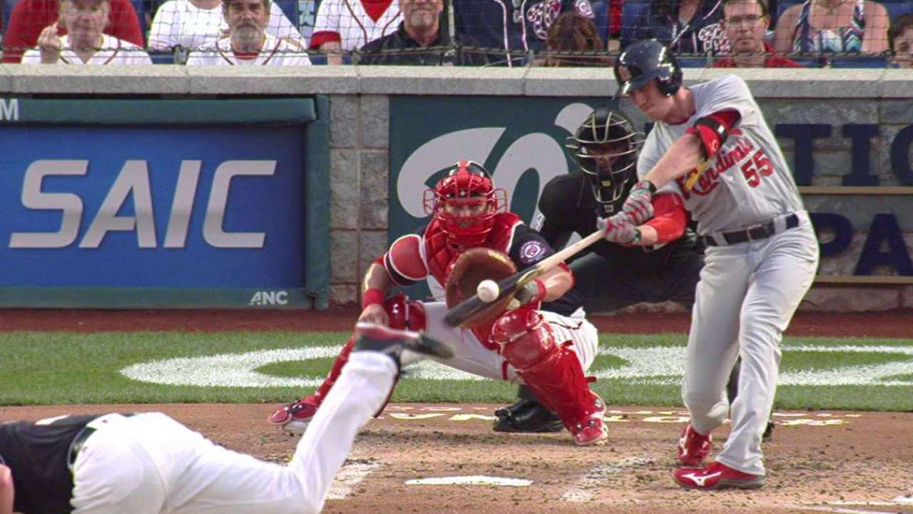 Piscotty disparó grand slam para la victoria de Cardenales vs. Washington