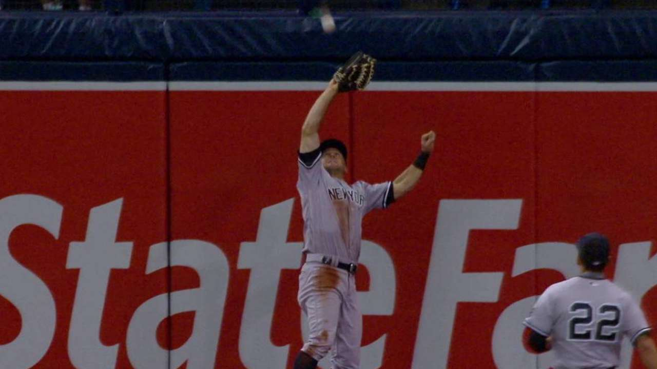 Gardner's catch at the wall