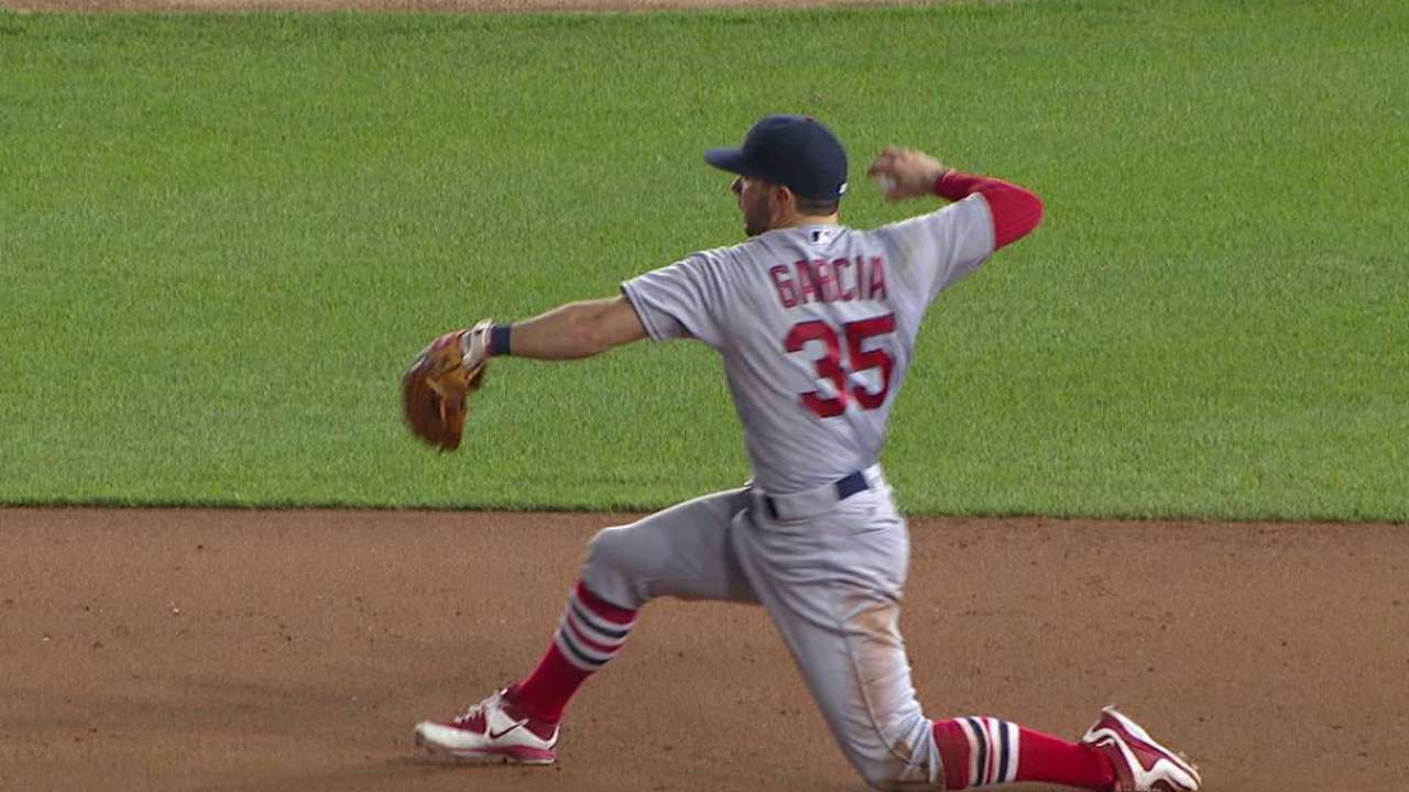 Garcia starts double play