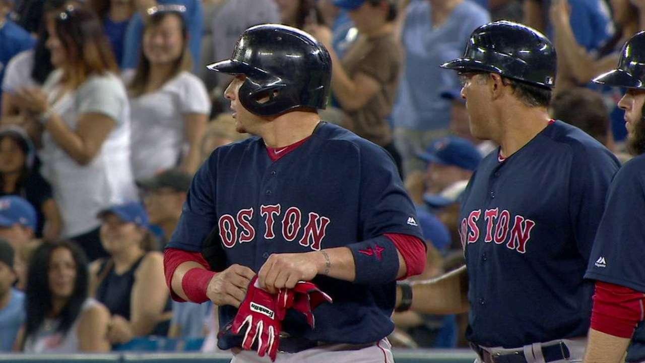 Christian Vázquez a paso firme como receptor de Boston
