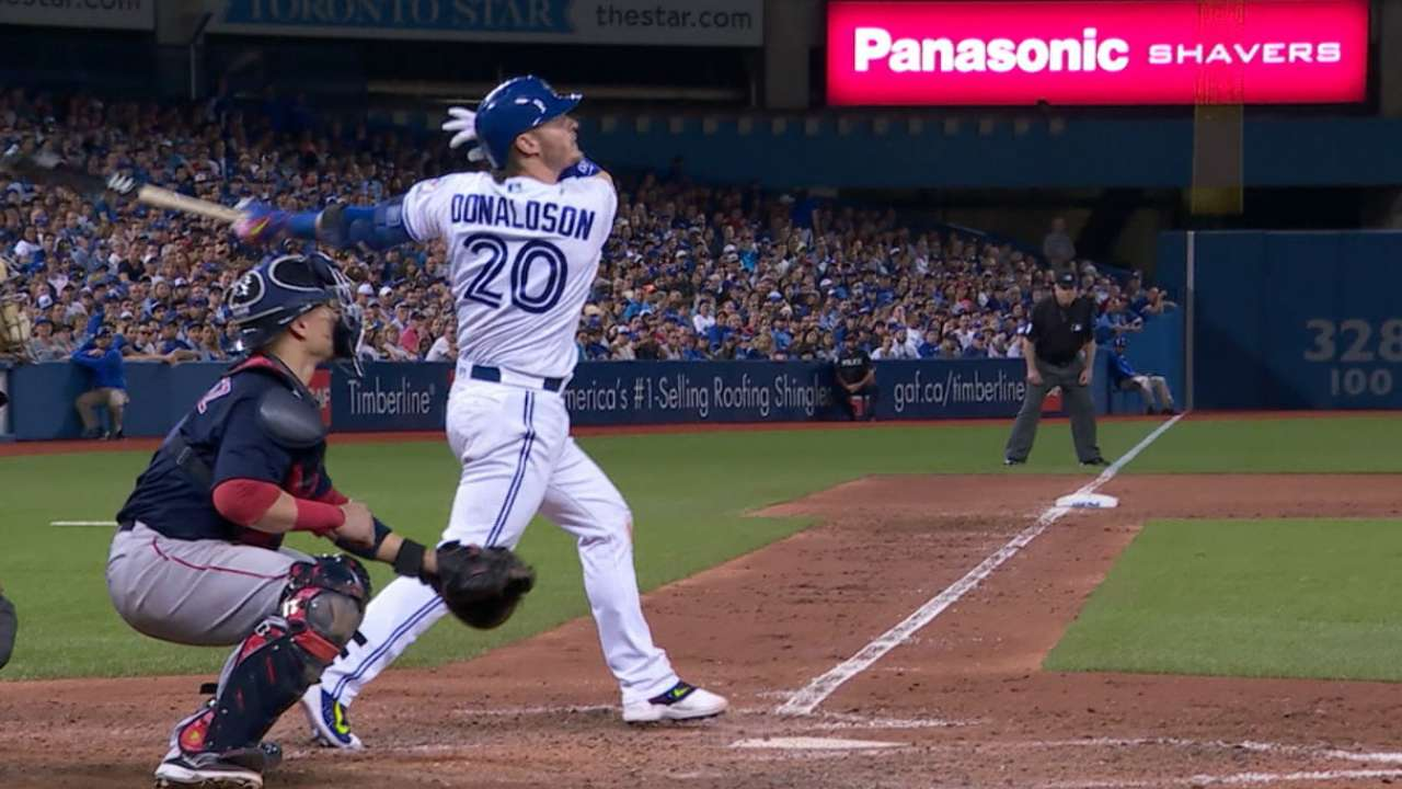 Donaldson rains down with 5-RBI night