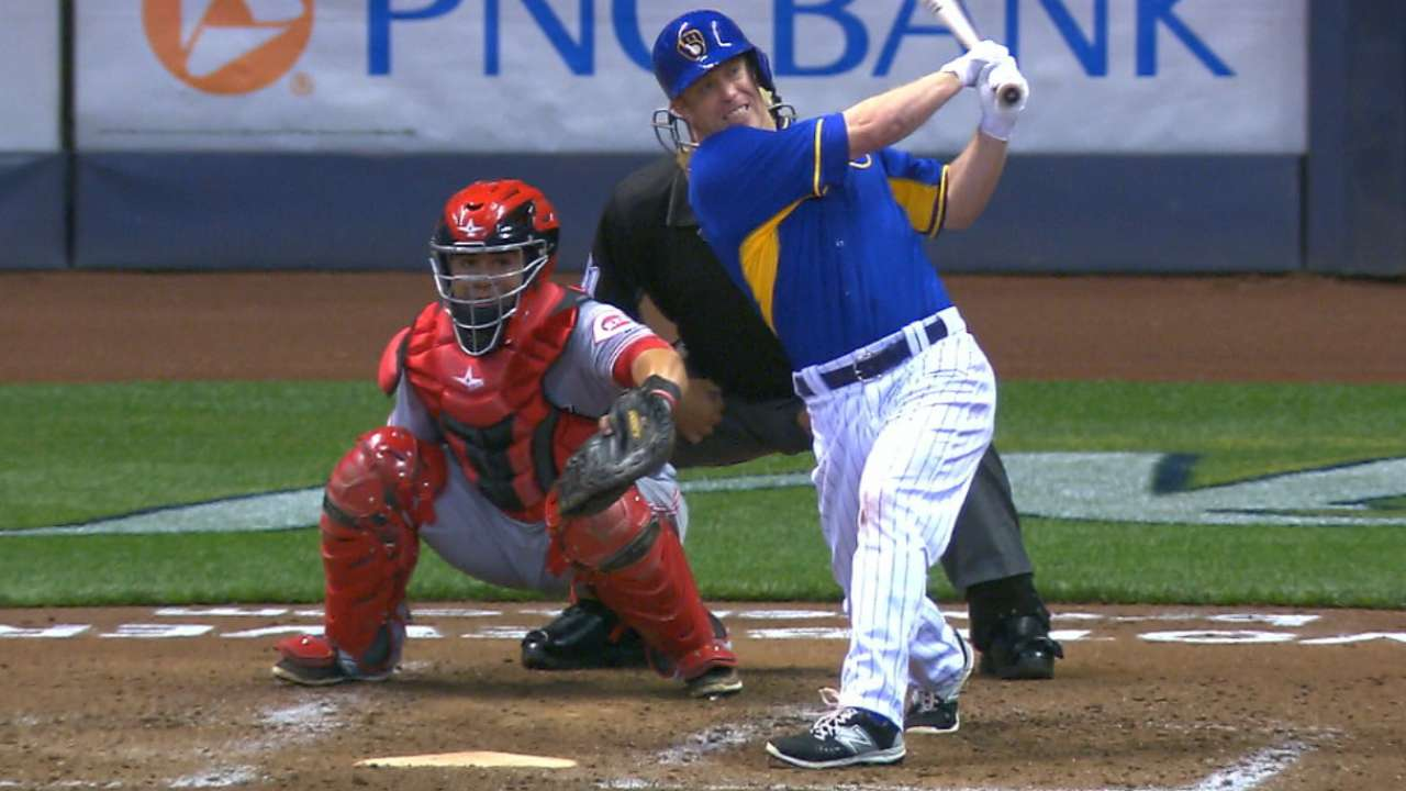 Brewers rally for rout, prolong Reds' woes