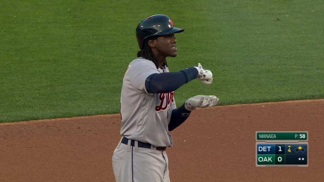 Maybin's RBI double