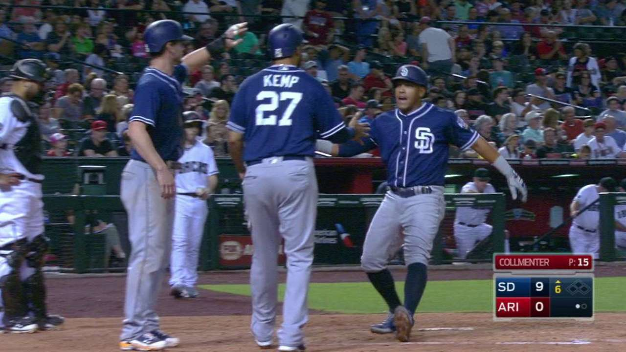Solarte fuels Padres' power display in Arizona