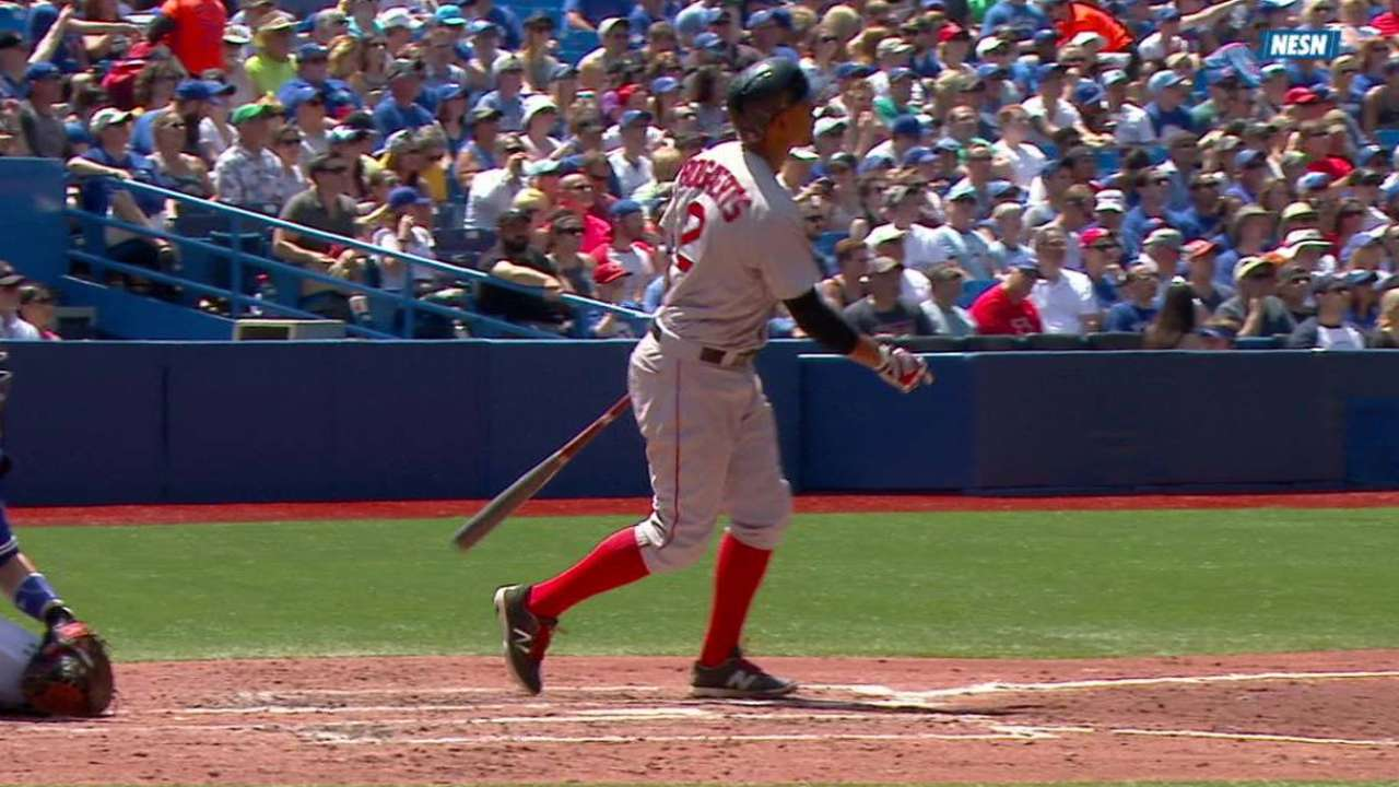 Bogaerts homers as hitting streak reaches 21