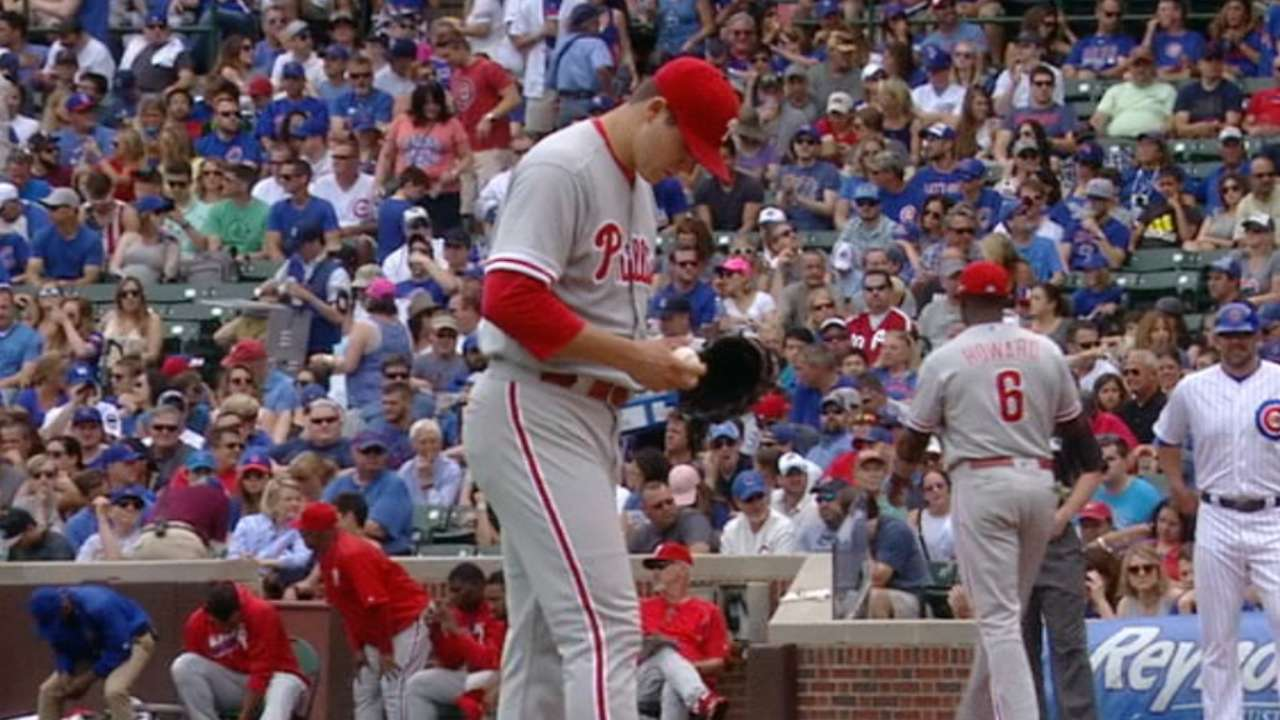Unable to support Eickhoff, Phils fall to Cubs