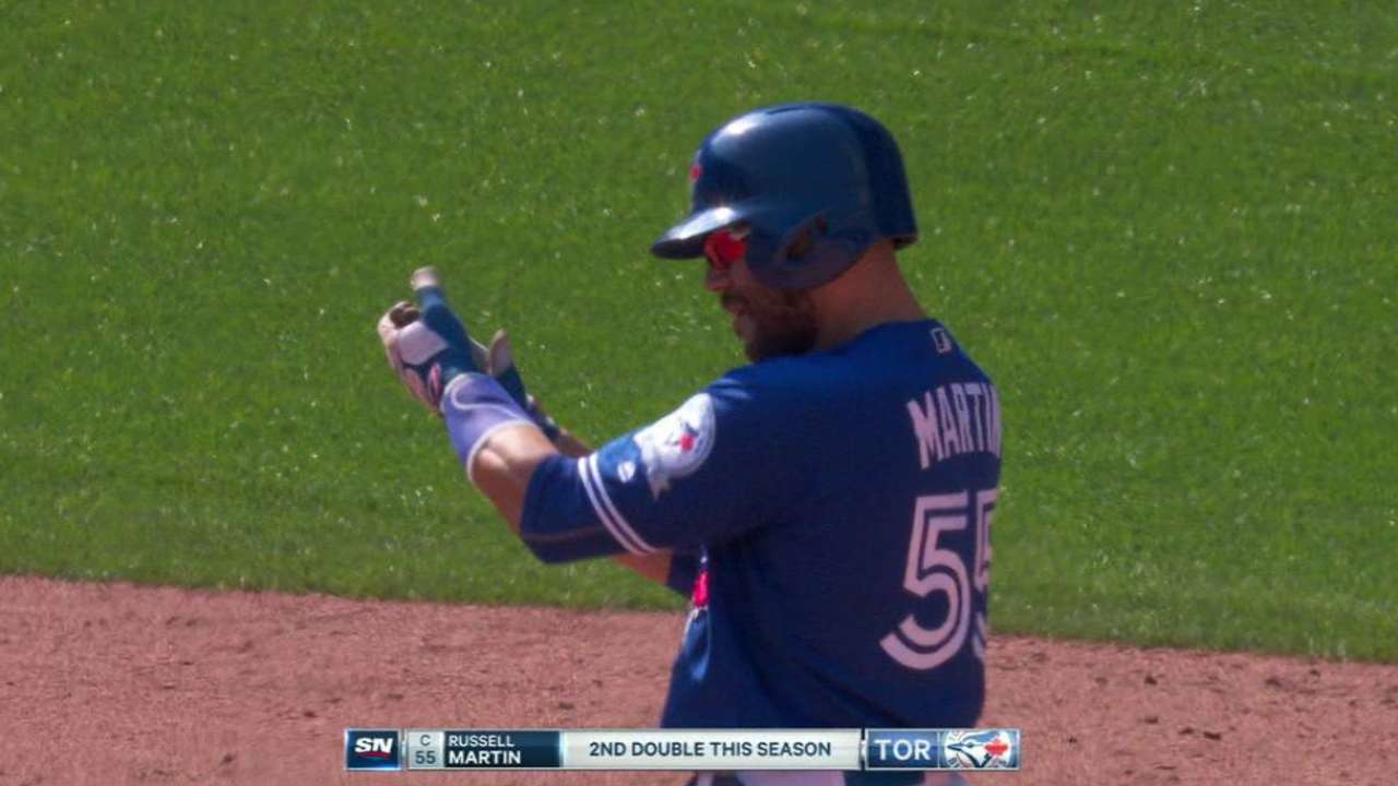Martin's RBI double in 9th