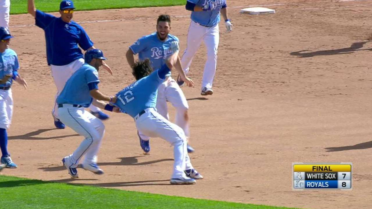 Down 7-1 in 9th, 0 on, 1 out, KC wins!