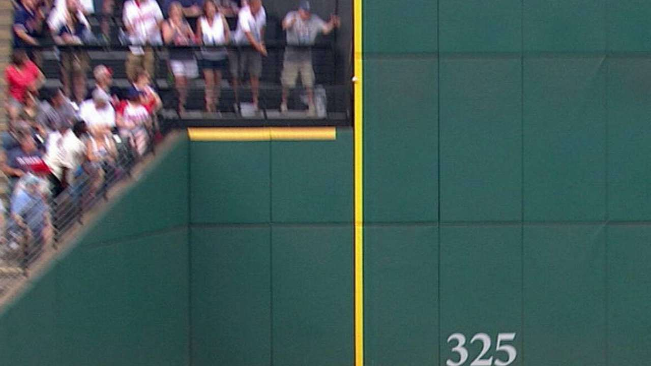 Trumbo notches a double