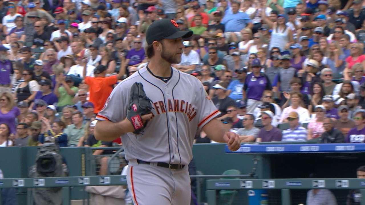 Bumgarner goes six solid innings