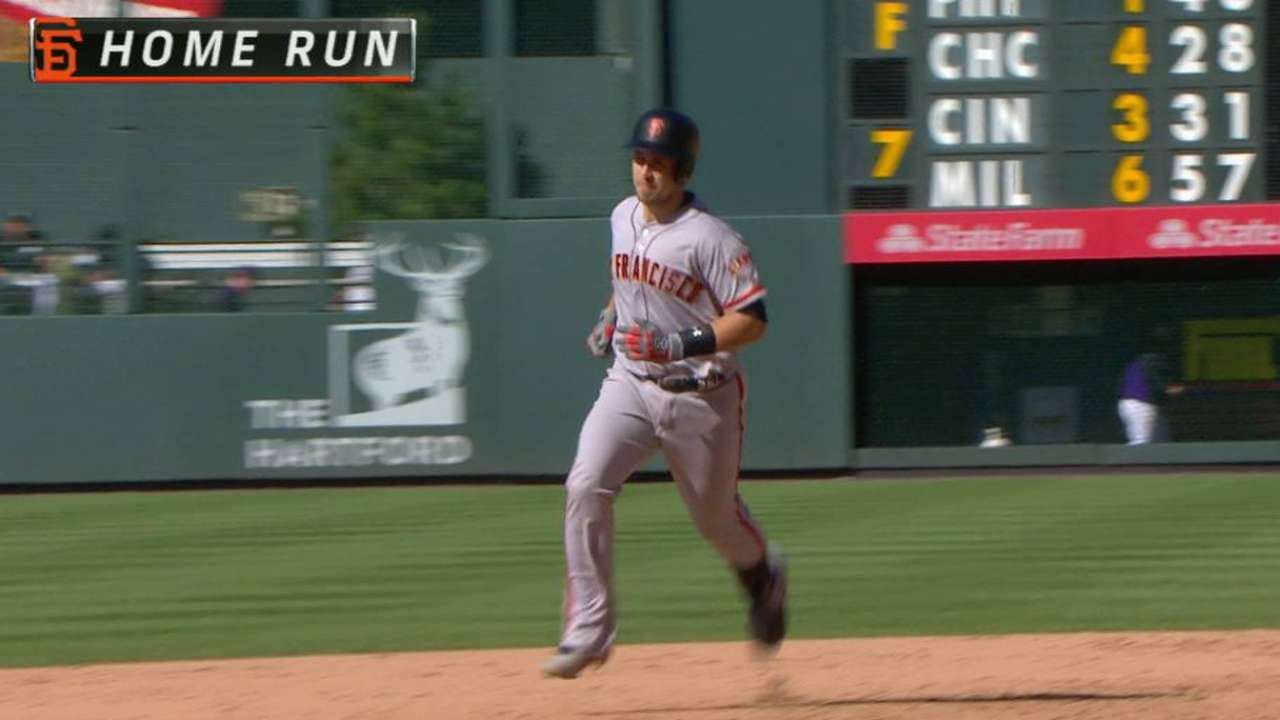 Posey's 2-HR day helps Giants rally past Rockies