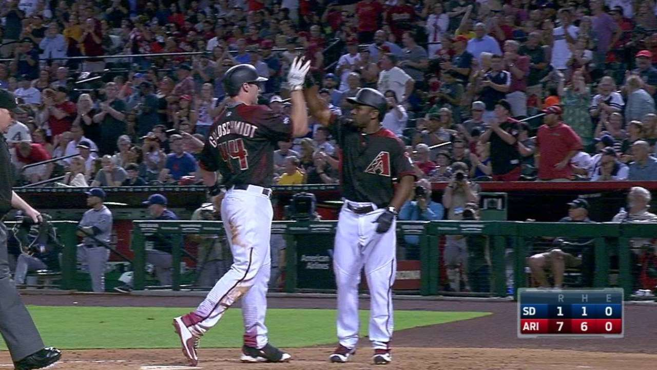 Goldy's two-run blast in the 2nd