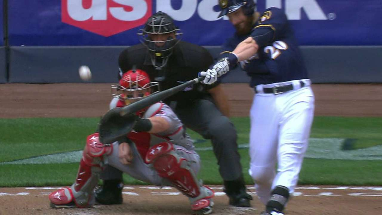 Lucroy drives in his second run