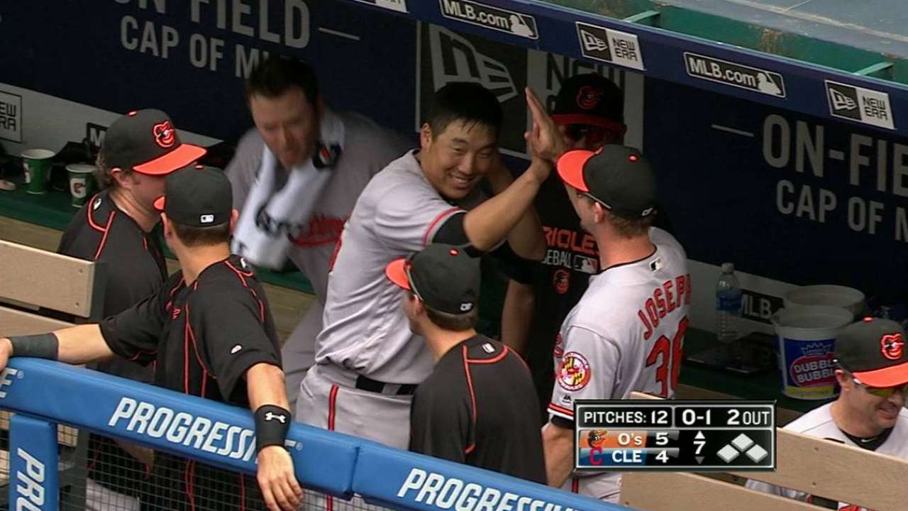 Kim crushes first homer of career in O's win