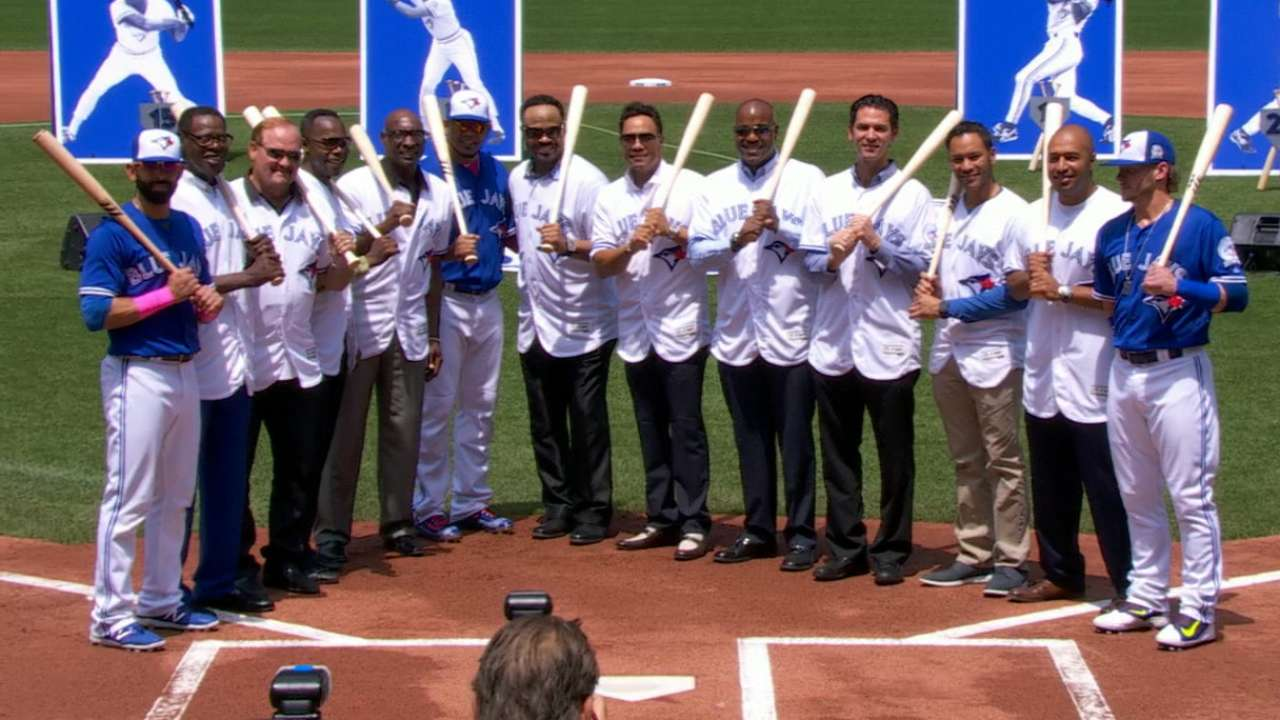 Greatest hitters in Blue Jays history feted