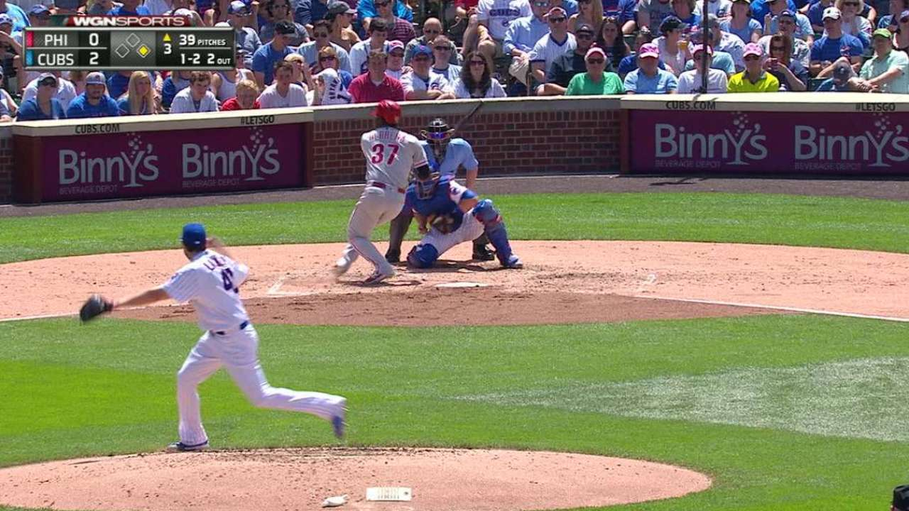 Lackey sends Herrera spinning