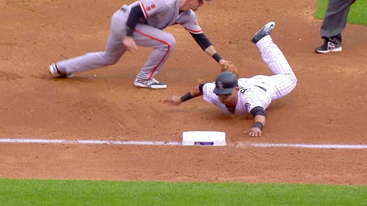 Giants turn double play