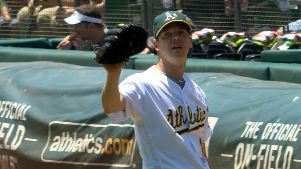 Hill likely to return to A's rotation in Cincinnati