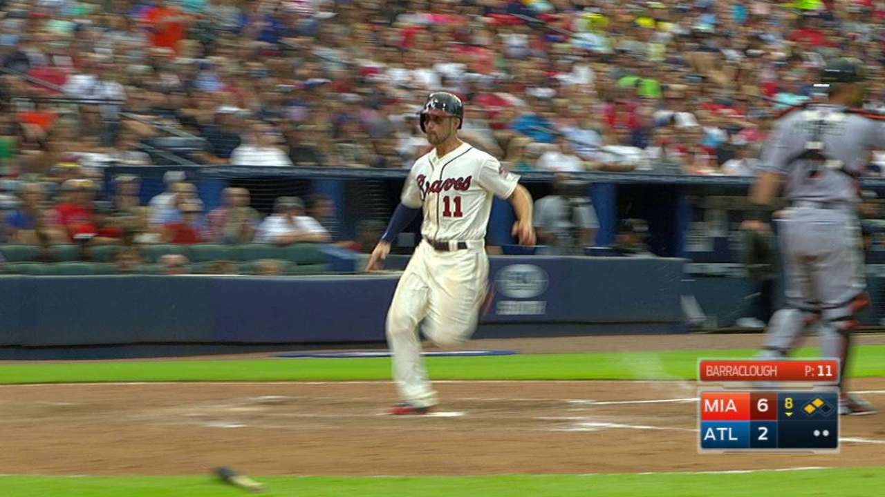 Francoeur's sac fly to center