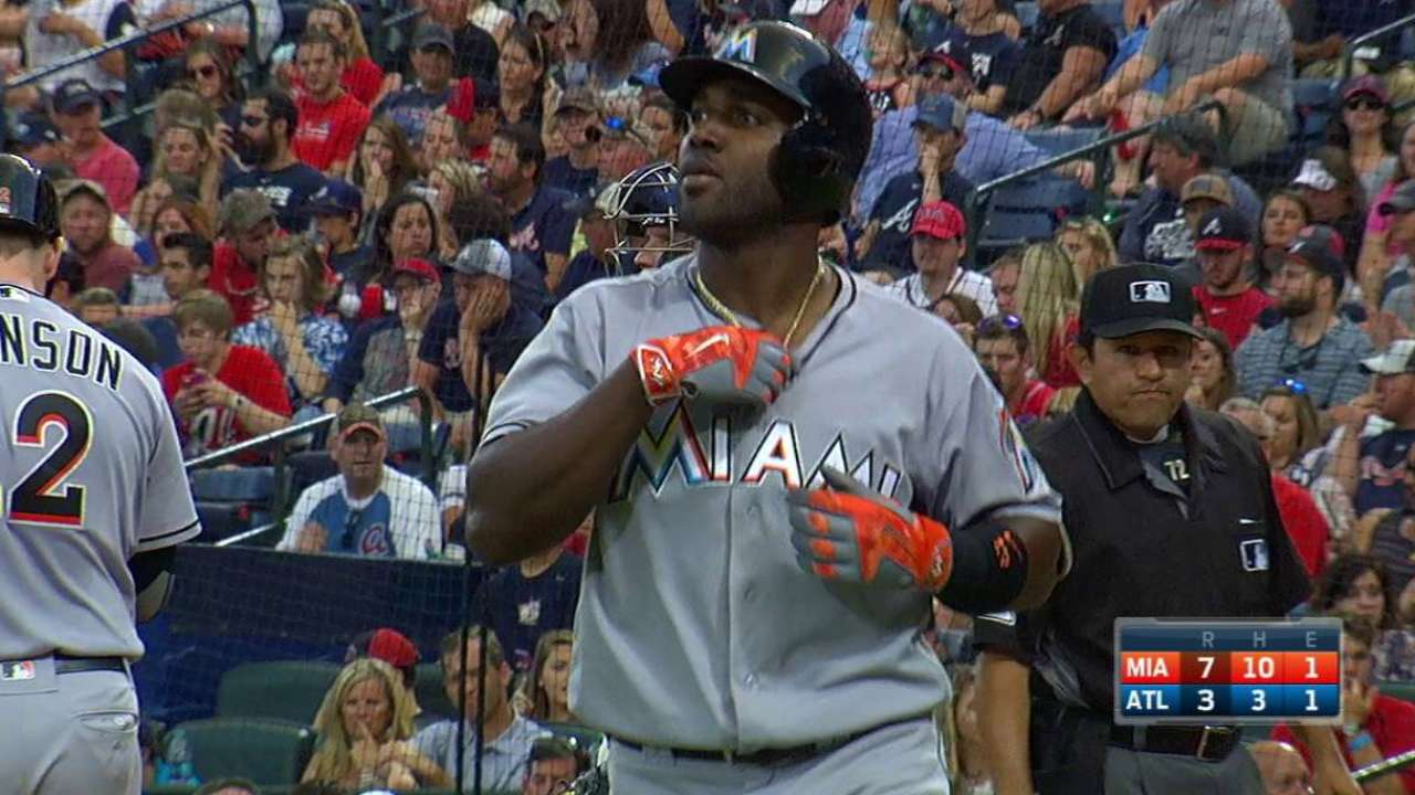 Ozuna's solo blast to center