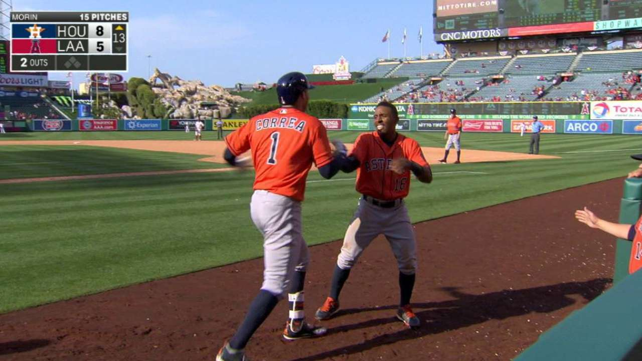 Correa blasts off bench to lift Astros in 13th