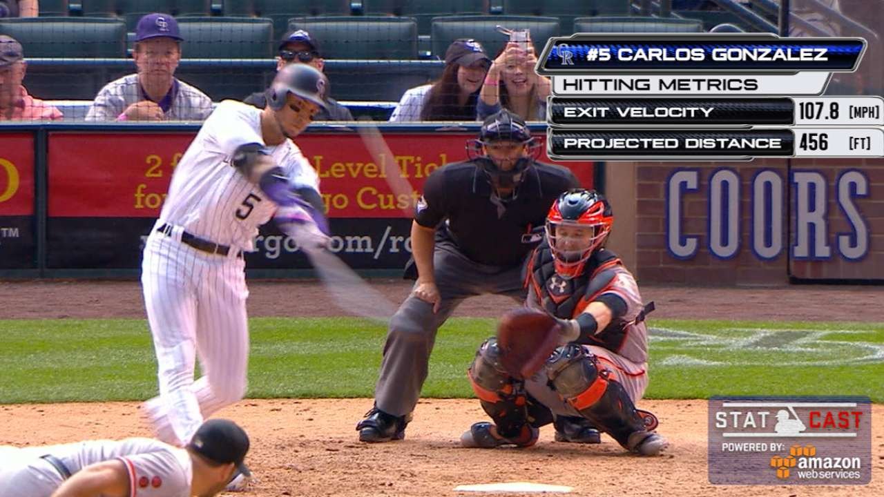 Statcast: CarGo demolishes homer