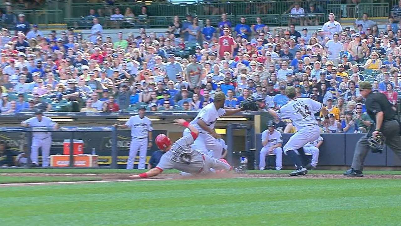 Defensive miscues freeze Brewers