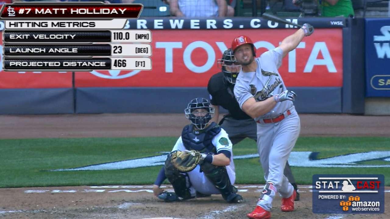 Statcast: Holliday's huge homer