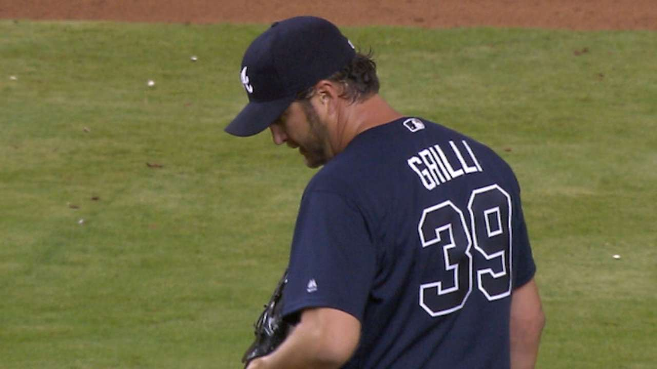 Grilli's first save since return has special meaning