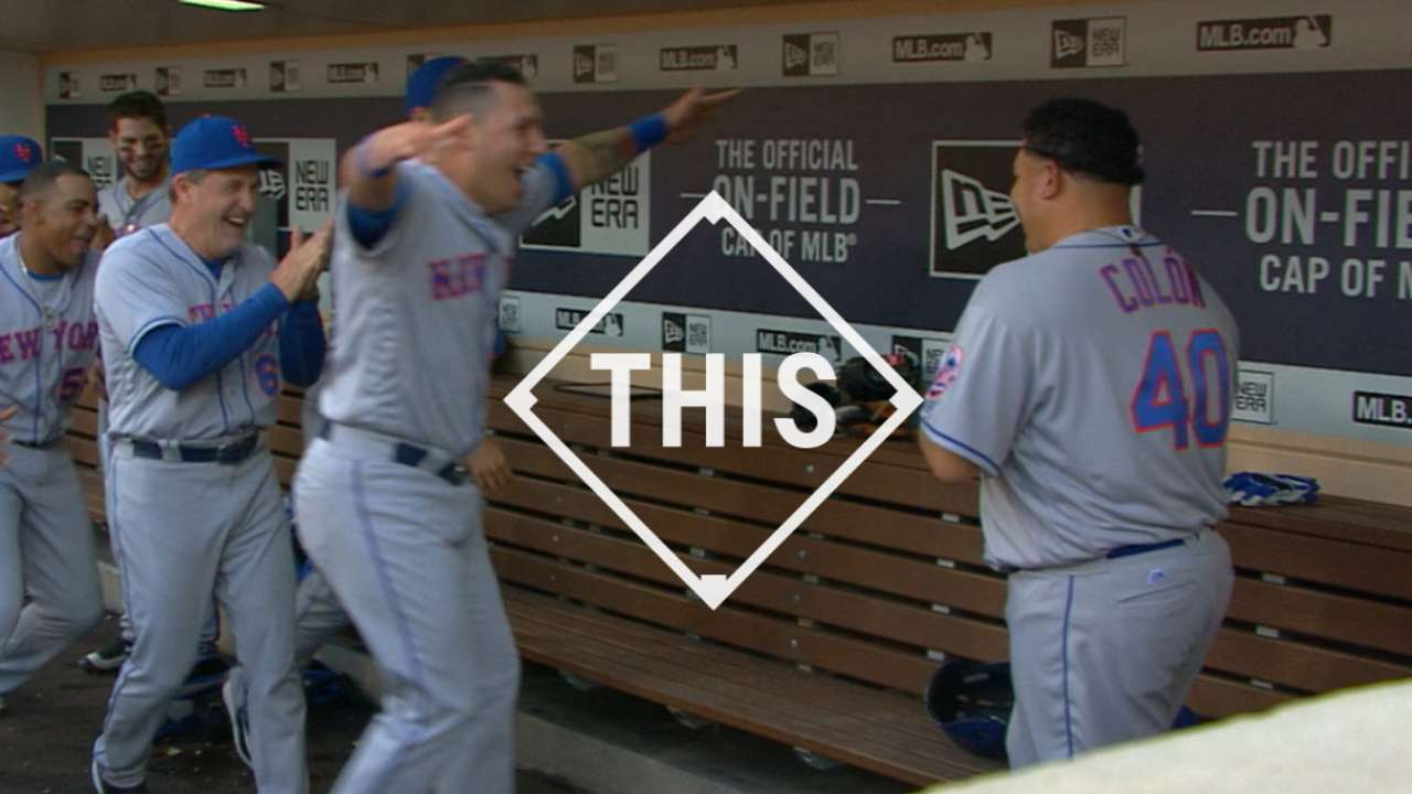 #THIS Colon's first homer
