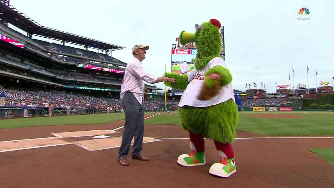 Army Under Secretary returns for first pitch