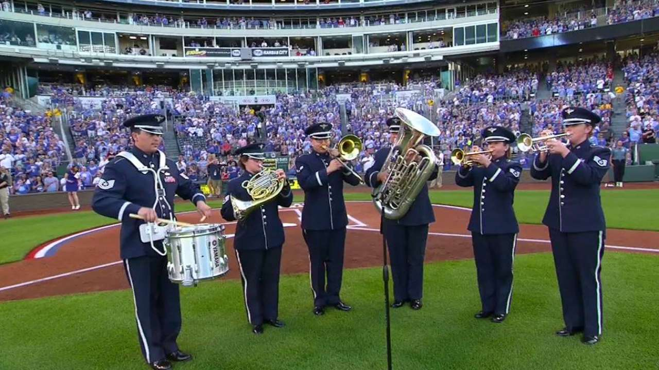 Royals honor military in pregame ceremony